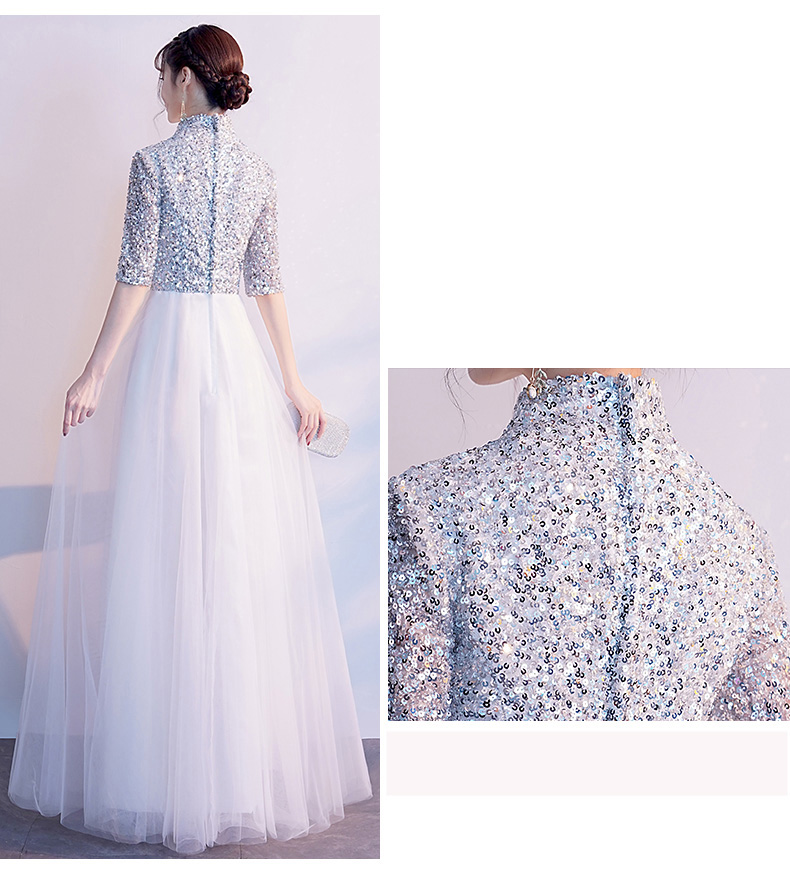 Sparkly Sequins Floor Length Mother Of Bride Groom Dresses 8437198293#