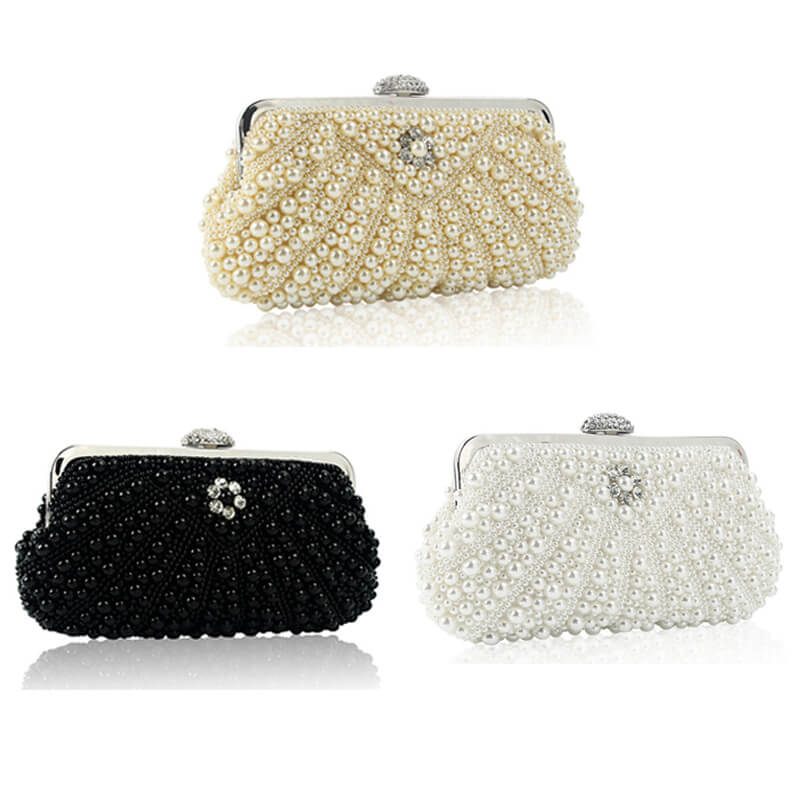 Luxury Imitation Pearls Evening Clutches 8468247930#