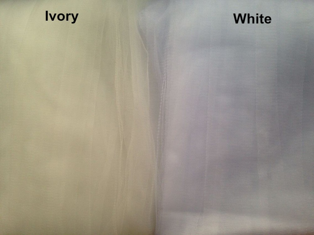 Ivory White 10 Meters Long Bridal Veils With Comb 8473204918#