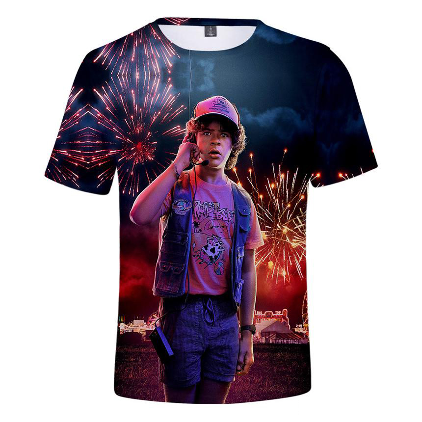 Adult Hot Stranger Things 3D Short Sleeve T-Shirts Unisex T-Shirt Middle School T-Shirt 3D Printing T Shirt The Stranger Things Men Women Fan Tee 8474681213#