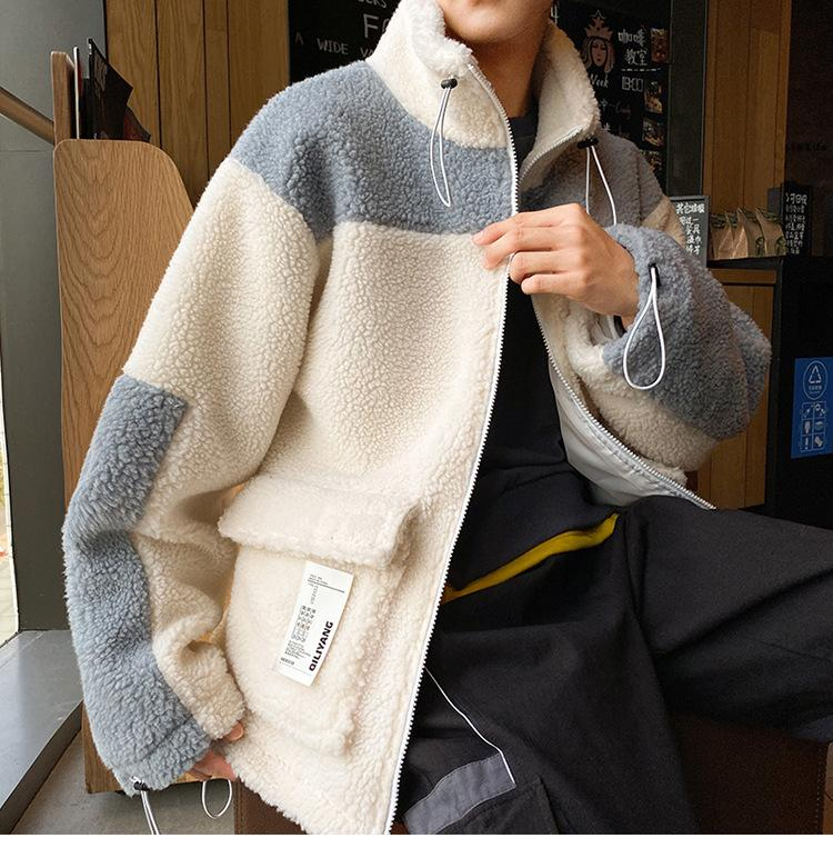 Mens Winter Sheepskin Jacket New Fashion Trendy Korean Loose Lamb Fur Coat Jacket For Men High Quality Thick Men Clothing 8500685847#