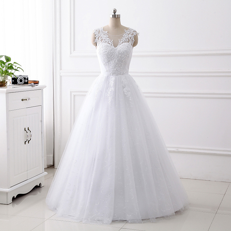 Cheap A Line Wedding Dress for Bride 8507583410#