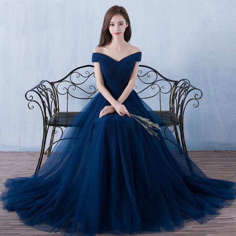 Cheap Formal Occasion Prom Gowns Evening Dresses Off Shoulder Bridesmaid Party Guest Floor Length Long Real Images 8513523910#