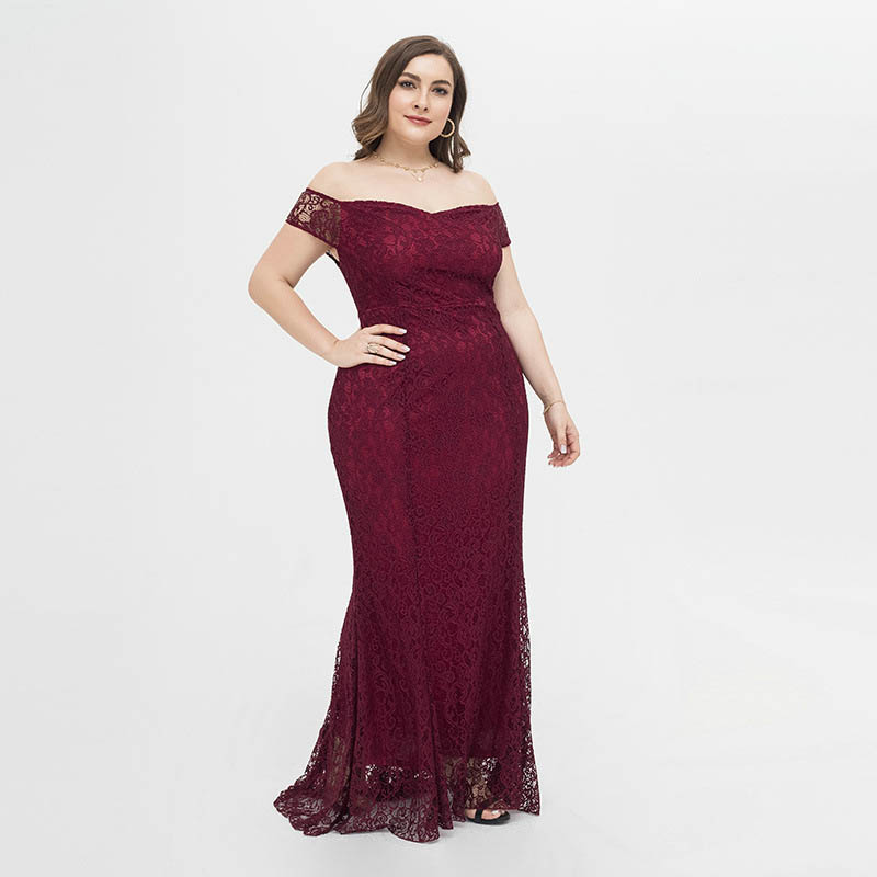 Off Shoulder Lace Evening Party Dress #88211592129