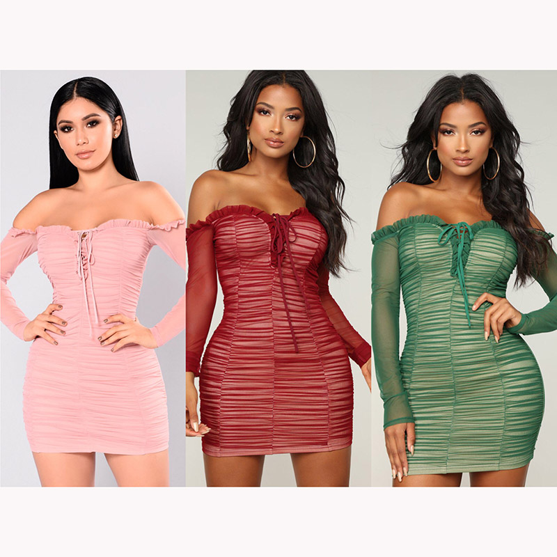 Off Shoulder Ruched Bodycon Dresses 88211592277#