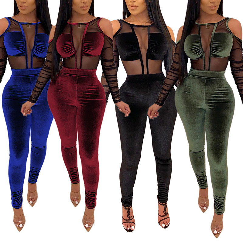 Cut Out Jumpsuit for Women Two Piece 88211592326#