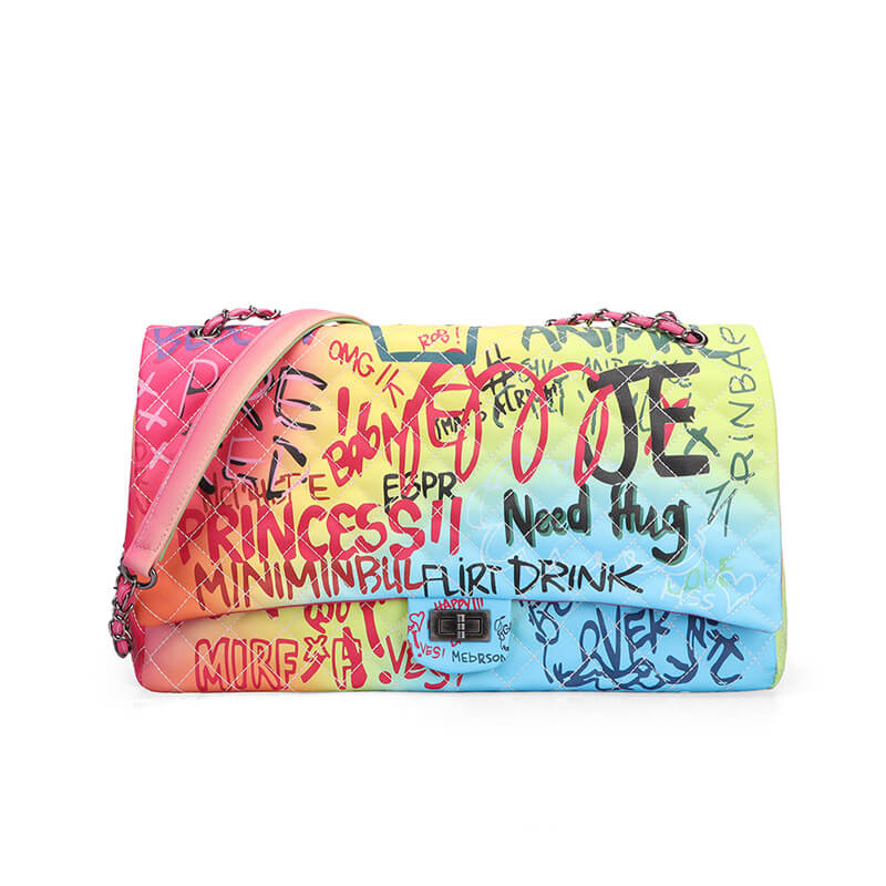 Luxury Graffiti Need Hug Crossbody Bag 88211592396#