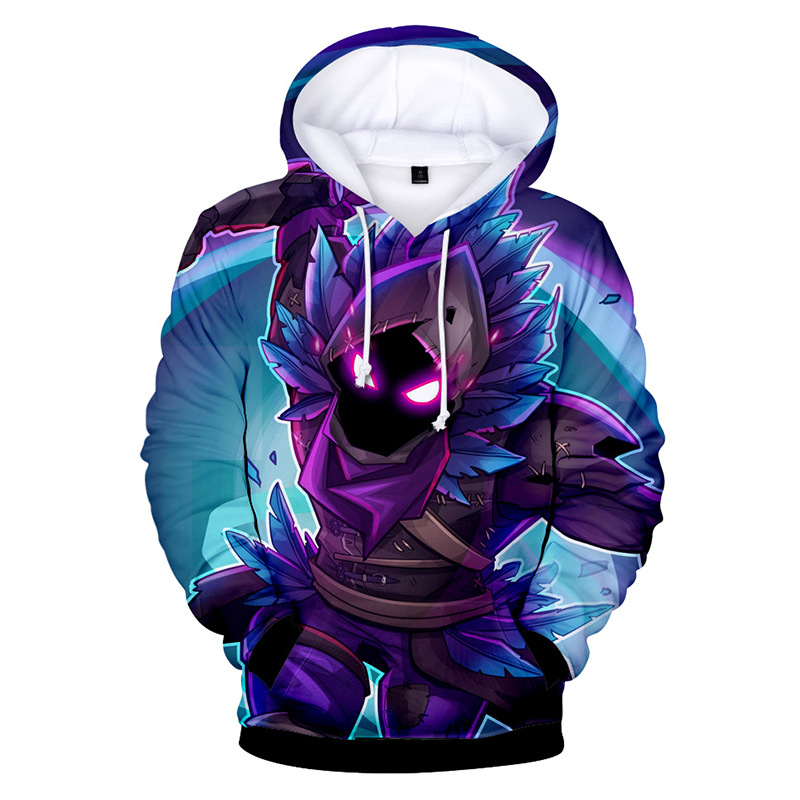 Men's 3D Cartoon Print Kangaroo Pocket Hoodie 88211592517#