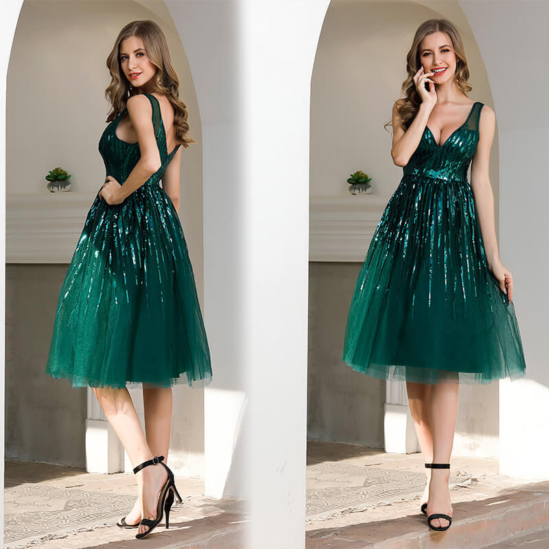 New Arrival Sequins Prom Dresses 88211597312#